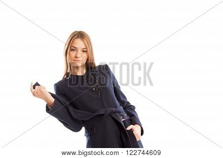 Fashionable portrait of a female business model