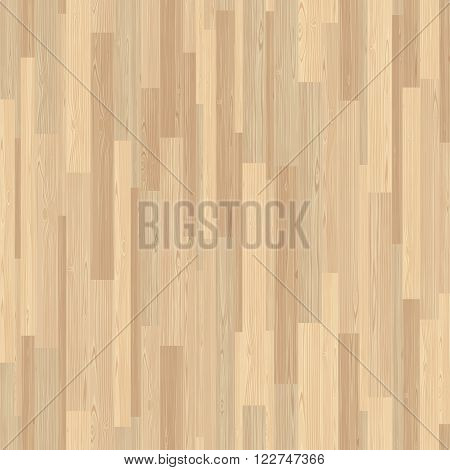 Light parquet seamless wooden floor stripe mosaic tile. Editable vector pattern in swatches.