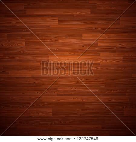 Dark parquet seamless wooden floor stripe mosaic tile. Editable vector pattern in swatches.