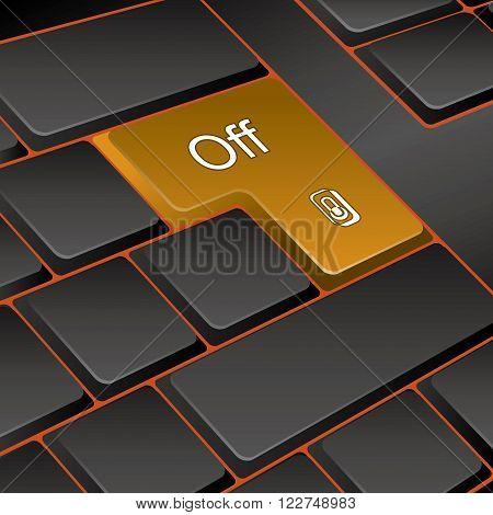vector keyboard. key off