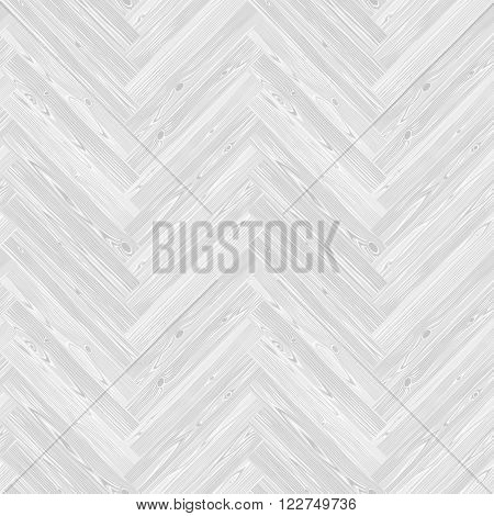 White herringbone parquet floor seamless texture. Editable vector pattern in swatches.