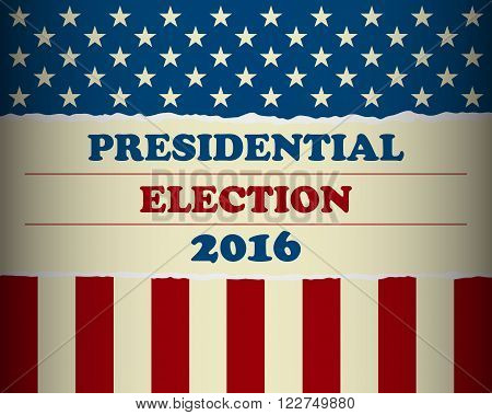 Presidential election 2016 - Vote your president in the USA - banner template