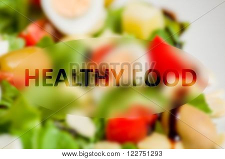 Healty food concept with fresh vegetable background