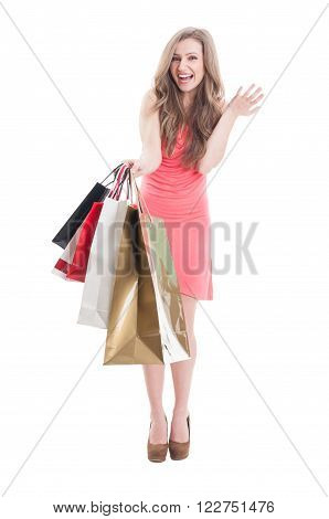 Enthusiastic Shopping Girl