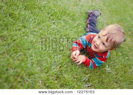 A Little Boy On The Meadow