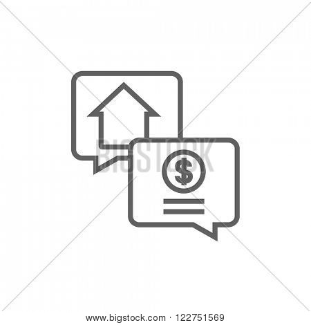 Real estate transaction line icon.