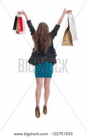 Shopping Woman From Behind