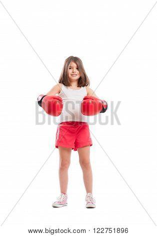 Boxer Girl Smiling