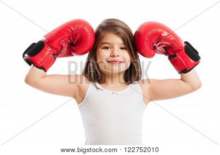 Cute But Strong Boxer Girl