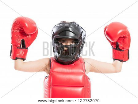 Adorable And Young Boxer Girl