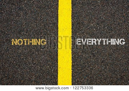 Antonym Concept Of Nothing Versus Everything