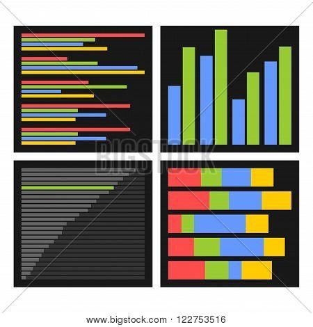 Benchmark Bars and Indicators Set. Vector illustration