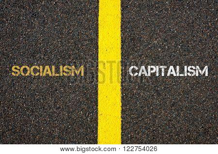 Antonym Concept Of Socialism Versus Capitalism