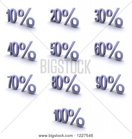 Super High Resolution Percentage Symbols