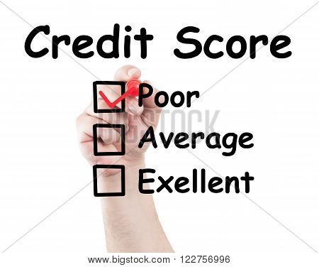 Credit Score Poor