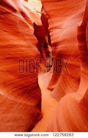 Sandstone waves and colors inside iconic Antelope Canyon Arizona