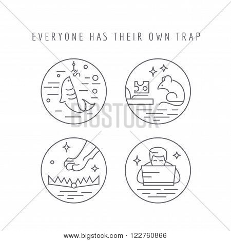 Everyone has their own trap. Concept of weaknesses