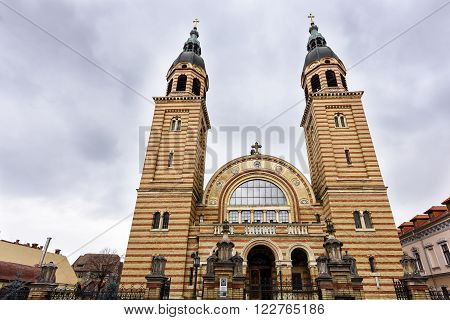 Holy Trinity Orthodox Cathedral, Sibiu, front view
