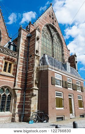 Oude Kerk in De Wallen in Amsterdam the Netherlands.