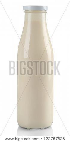 Bottle of milk, isolated on white