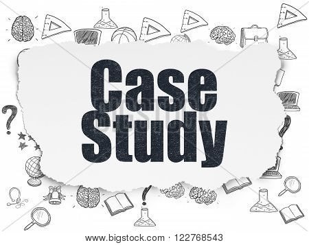 Learning concept: Case Study on Torn Paper background
