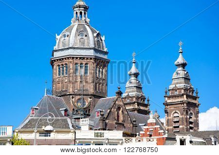 St. Nicolas church dome in Amsterdam the Netherlands.