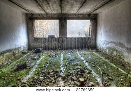 Ruins of abandoned industrial building - abandoned place