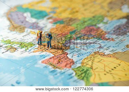 European tourism and travel concept. Macro photo
