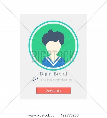Website element contact design flat. Phone business contact, web call communication avatar person mobile contact phone, website element name registration vector illustration