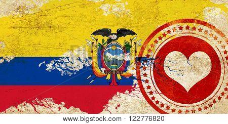 Ecuador flag with some soft highlights and folds