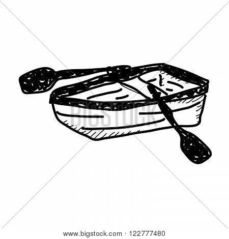 Simple Doodle Of A Rowing Boat