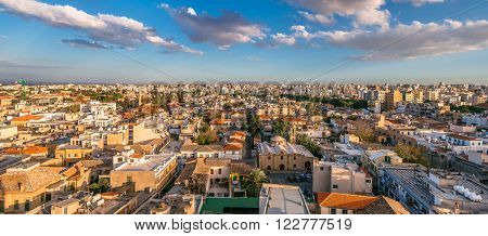 Nicosia City panoramic view. Old town. Cyprus.