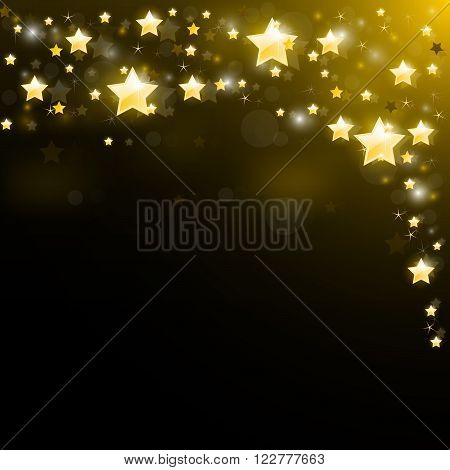 Night sky studded with sparkling stars - magic starry background