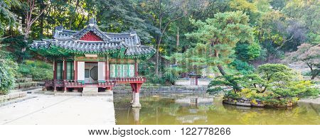 The Pavillion at secret garden of Changdeokgung palace in Seoul,  Changdeokgung is one of the Five Grand Palaces of the Joseon Dynasty.