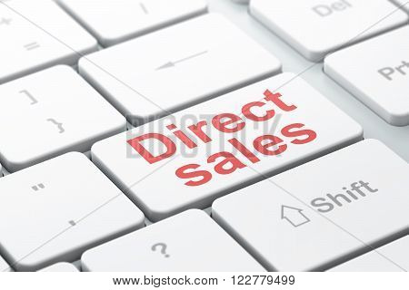 Marketing concept: Direct Sales on computer keyboard background