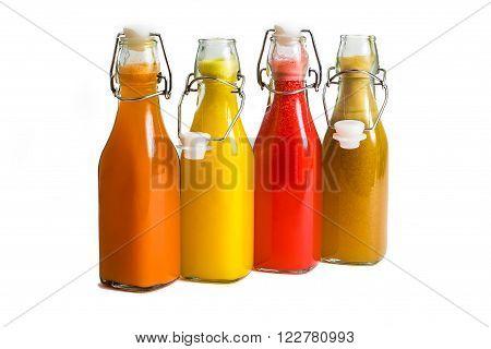 Fresh Juice bottle isolated on white background