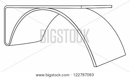 Vector illustration of design and wooden table