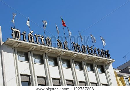 LISBON, PORTUGAL - FEBRUARY 15: building facade where a large Portuguese daily newspaper February 15, 2015