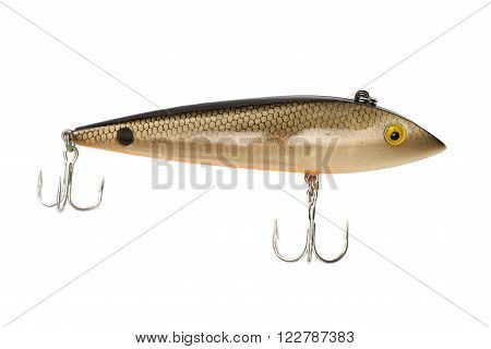 Fishing lure isolated on a white background.