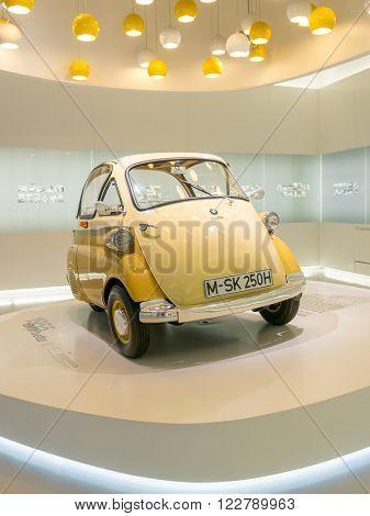 Munich, Germany - March 10, 2016: Isetta in BMW Museum