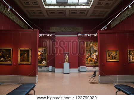 Moscow, Russia - February 16, 2016: Pushkin Museum