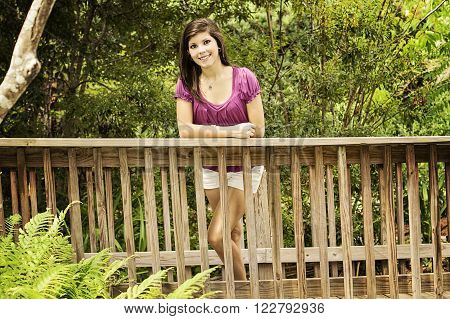 Young beautiful girl outdoor portrait close up