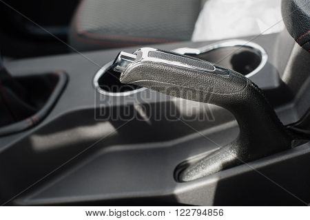 hand brake car fixed in the upper position