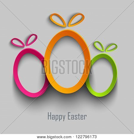 Easter card with abstract design cut out colored eggs vector eps 10