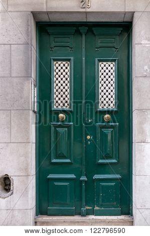 Old door in the city of Lisbon