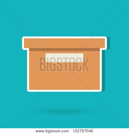 box carton design, vector illustration eps10 graphic