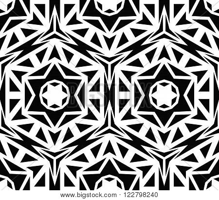 Vector Geometric Black Rose Pattern. Abstract floral background for fabric print, fashionable textile, furniture. Red flower pattern, minimalistic style. Vector flower design, decorative roses pattern