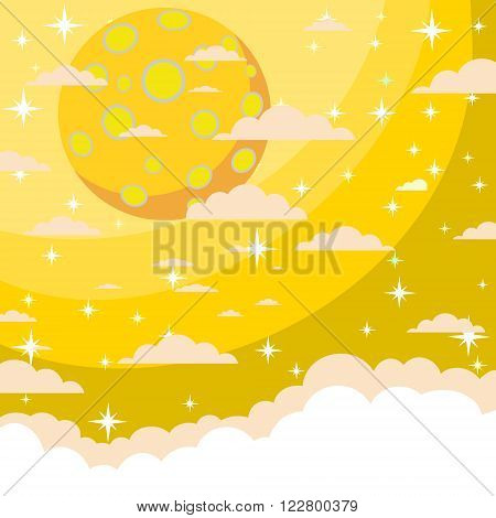The night the starry sky beautiful as wallpaper, vector illustration