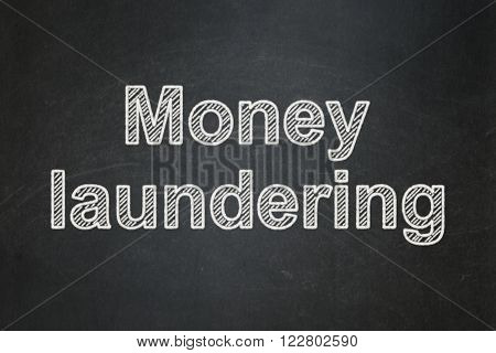 Money concept: Money Laundering on chalkboard background