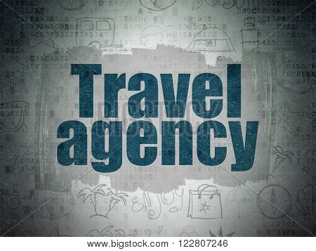 Travel concept: Travel Agency on Digital Paper background
